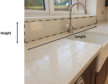 Image of a downstand template from TS Granite
